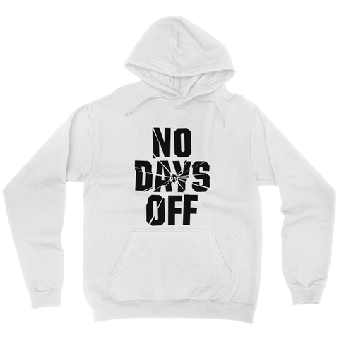 No Days Off Hoodie - White/Blk