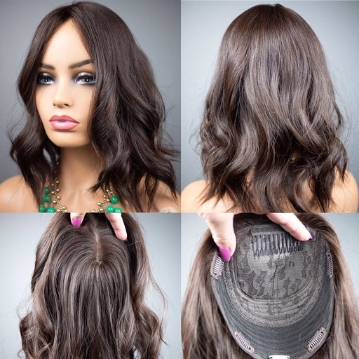 NEW ARRIVAL SUMMER WAVE HAIR TOPPER NATURAL WAVE HAIR 40% OFF 6 COLOR