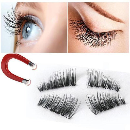 1pair Luxury 3d Mink Fur False Eyelashes Extensions