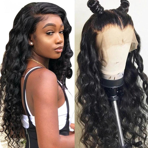Glueless Full Lace Wigs For Women Deep Loose Wave Brazilian Virgin Human Hair Wig Pre Plucked