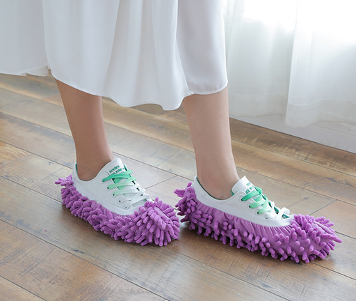 5 Pairs (10 Pieces) Multi-Function Dust Duster Mop Slippers Shoes Cover
