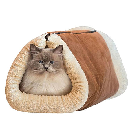 Winter Warm Cats Dogs Blanket 2-in-1 Pet Bed Snooze Tunnel Mat Kennel Crate Cage Hot Sale