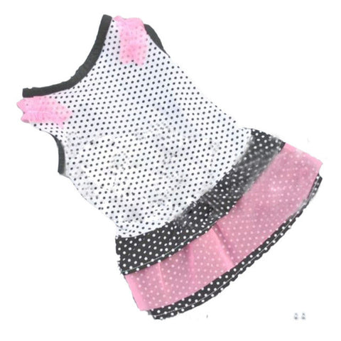 Puppy Dog Princess Dress Dog Dot pet dog clothes dress dog jaket winter warm hondenkleding