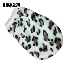 dog clothes for small dogs fleece Winter warm dog coat Clothes Leopard Pet Vest Clothing clothes dog shirt costume vetements