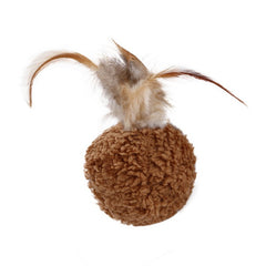 Pet Ball Feather Toy Cat Cotton Plush Toys Pet Cat Supplies Kitten Play Interactive Fun Toy Cat Teaser