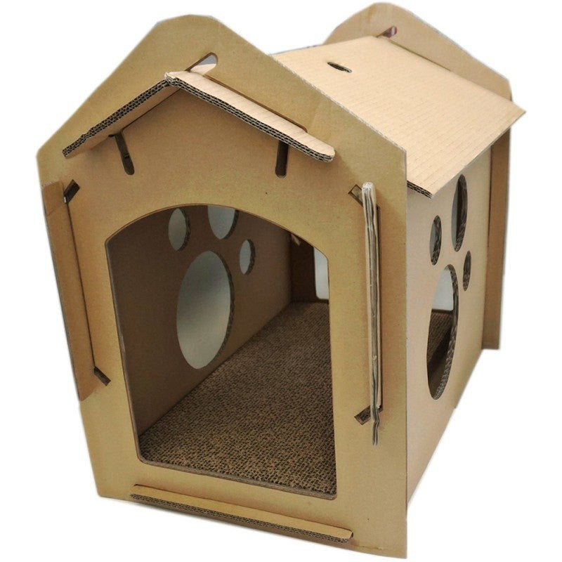 Cat Scratch Board Corrugated Paper Cat Litter Cat House Claws Cat Scratch Board Funny Cat Toy Pet House Carton Box Kittens Toys