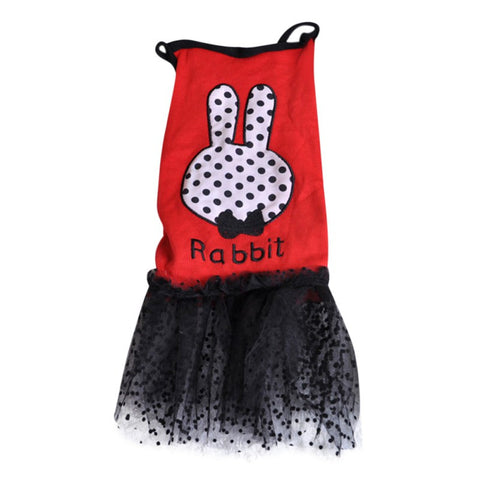 Pet Puppy Dog Clothes Summer Rabbit Dress Cotton Dog Skirt Pets Vest Skirt Pet Clothes