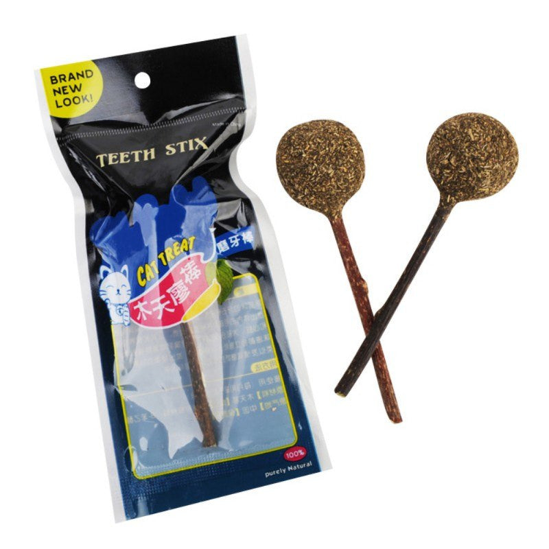 Cat Catnip Lollipop, Catnip Ball with Stick, Cat Toy, Kittens and Cats Love Playing With It Toys