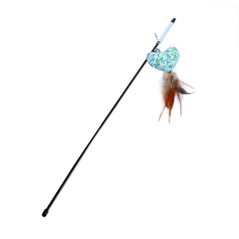 Pet String Cat Toy Funny Interactive Toys for Cats Feather Mice Fish Scratching Wand Cat Toys Pet Products for Cats