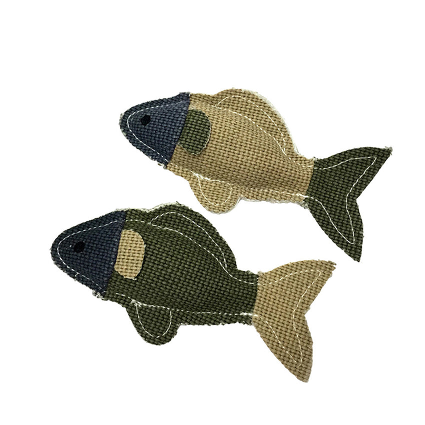 2Pcs Little Fish Pet Toys Flax Grind Tooth Toys Bite Resistant Dog Linen Molar Teeth Toys Dog Toys (Random Color)