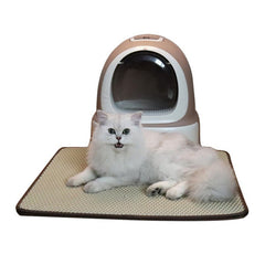 Environment-friendly Pet Cat Litter Mat Non Slip Double Honeycomb Collapsible Cat Mat Portable Cat Supplies