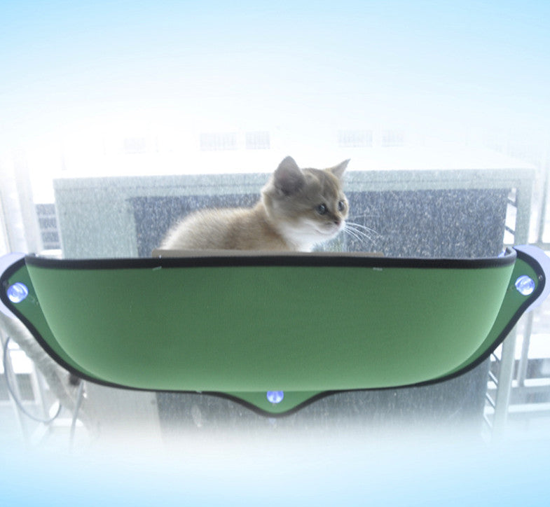 Removable Cat Window Bed Ultimate Sunbathing Cat Window Mounted Cat Hammock Bed Cat Lounger Perch Cushion Hanging Shelf Seat