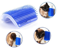 Pet cat Self Groomer Grooming Tool Hair Removal Brush Comb for Dogs Cats Hair Shedding Trimming Cat Massage Device with catnip