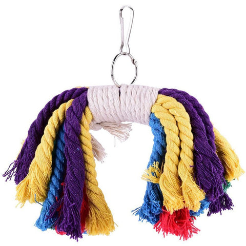Soft Parrot Climbing Toys Cotton Rope Bird Chewing Bite Toys Funny Bird Playing Rope Toy Bird Toy Accessories