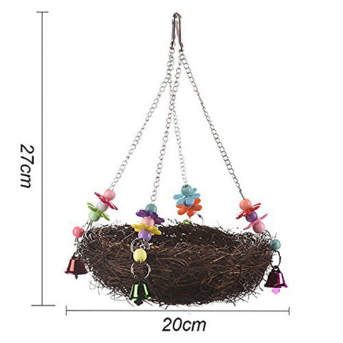 Handcraft Bird's Nest Toys For Birds parrots To Play Bite Climb Bird Swing Toys
