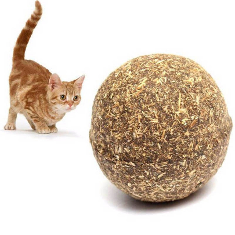 Pet Cat Toy Natural Catnip Ball Menthol Flavor Cat Treats 100% Edible Cats-go-crazy Treats