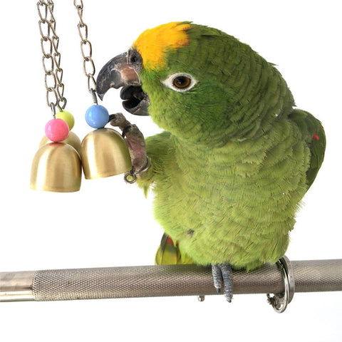 Colorful Fancy Pendant Bells Bird Parrot Chew Toys Bird Cage Hanging Ornament