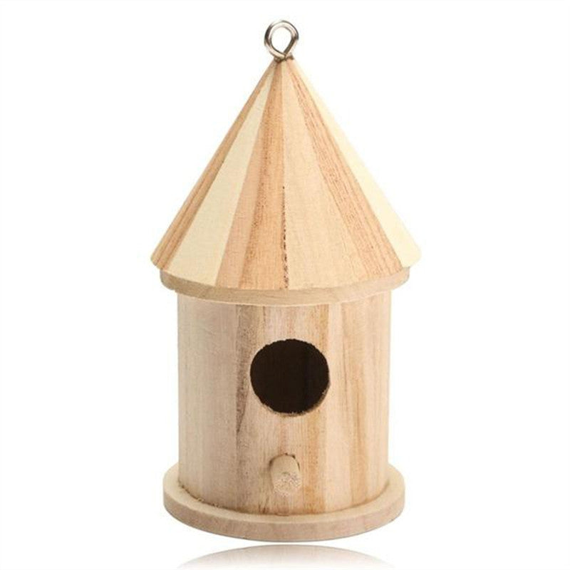 Wooden Bird Nest Hanging Birds House for Parakeets Budgerigar and Small Birds (Small)