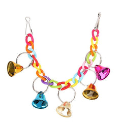 Birds Toy Parrot Hanging Swing Rings Balls Toy  Birds Cage Chew Toy Suspension Bridge