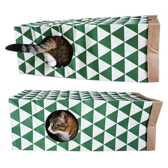 Hide and Sneak Cat Tunnel Cat Kitten Rabbit Funny Playing Tunnel Toy with Cat Mint