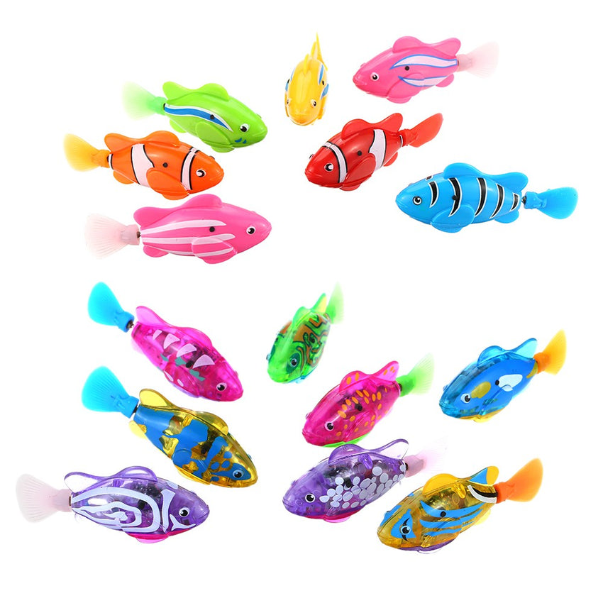 Flashy Electronic Fish Pets Robot Swimming Fish Wonderful Electric Clownfish Induce Bath Companion Toy Fish Magical Electronic Toy Kids Children Gift