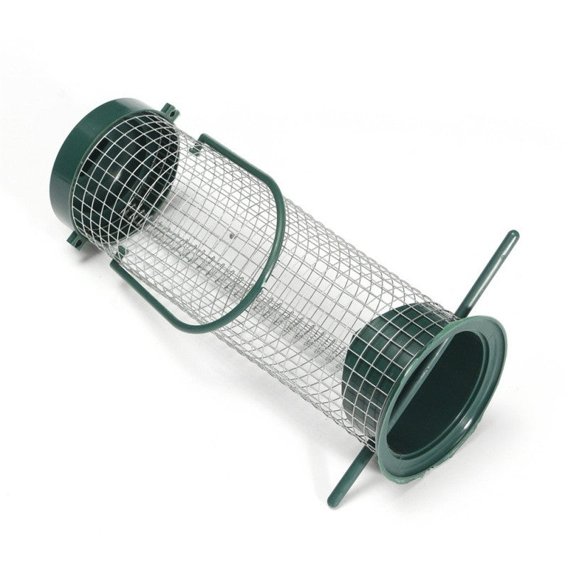 New Outdoor Plastic Bird Pet Feeder Waterer Garden Hanging Clear Type  Bird Seed Feeder