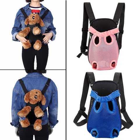 Vogue Nylon Mesh Pet Puppy Dog Cat Carrier Backpack Front Net Bag Sling Comfort Travel