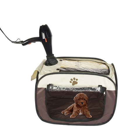 Pet Dog Playpen Cage Crate Portable Folding Exercise Kennel For Travelling Or Camping Can Be Used As A Drying Box