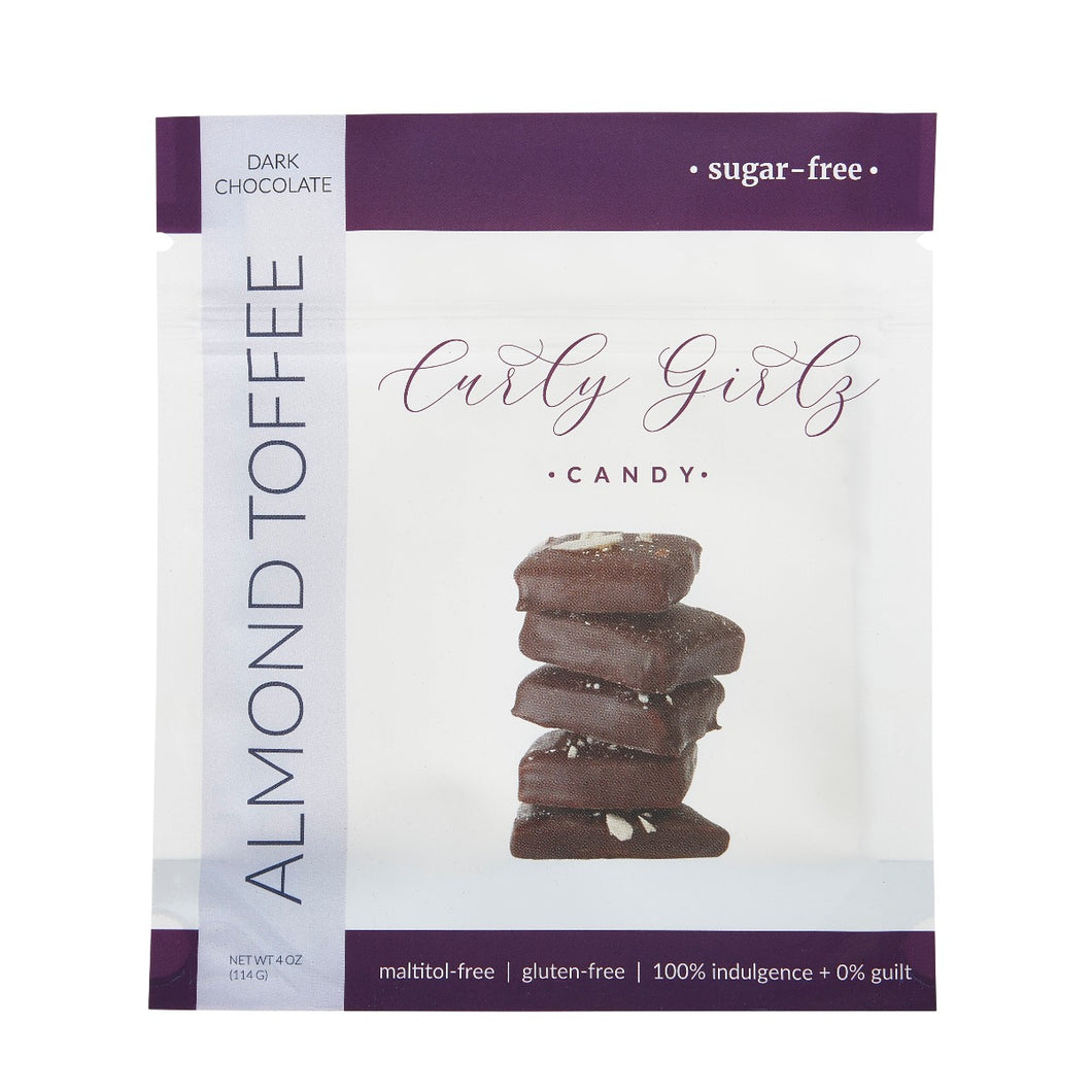 Almond Toffee - Curly Girlz Candy Inc