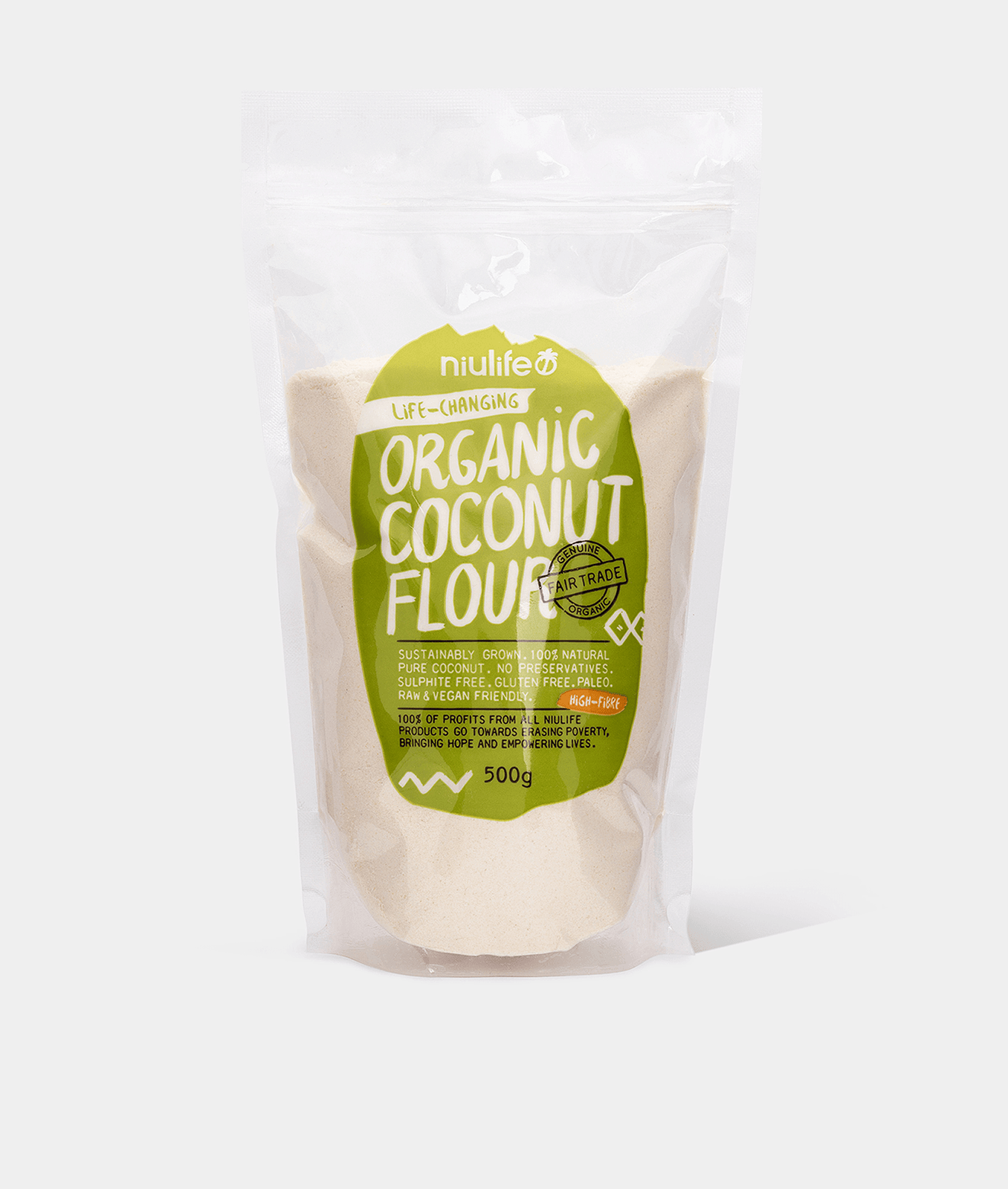 Organic Coconut Flour 500g By Niulife Part Parcel