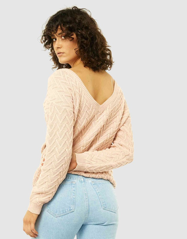 Rusty Ziggy Vee Neck Reversible Knit