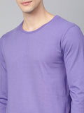 Purple High-Low T-shirt