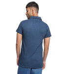Overdyed Washed Polo In Blue