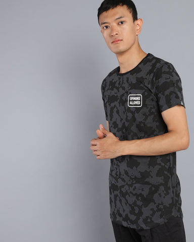 Camo print T-shirt in Dark Grey