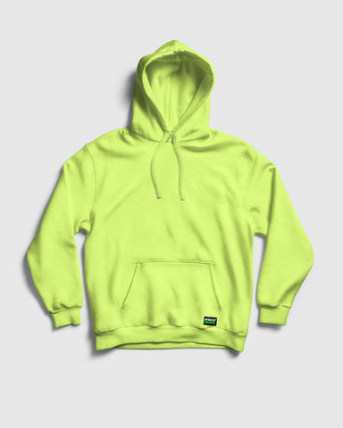 Neon Yellow colour Fleece Hood by Antimatter
