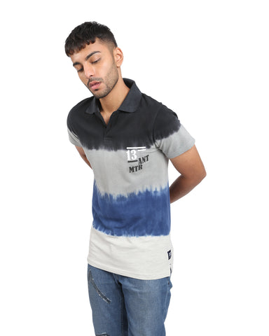 Slim Fit Tie Dye Polo T-shirt