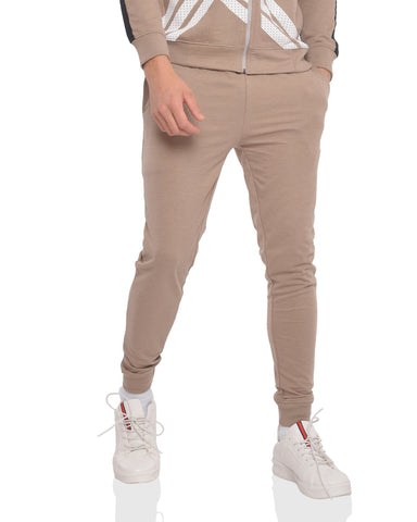 Skinny Fit Basic Joggers in Taupe Grey