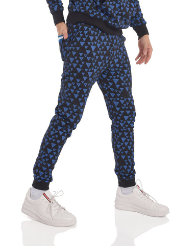 Slim Fit All over Print Joggers in Black