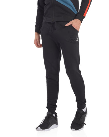 Skinny Fit Basic Joggers in Black