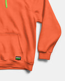 Orange Fleece Hoodie