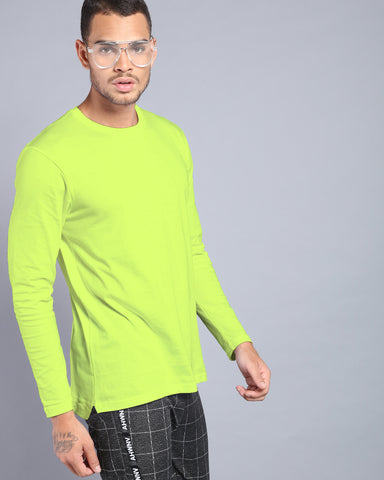 Neon Yellow High-Low T-shirt