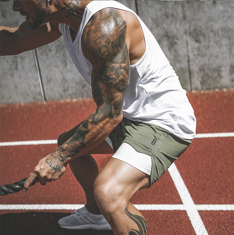 2 in 1 Men's Running Training Workout Shorts with Phone Pocket Liner - Smart Outdoor Store