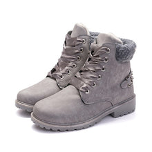 Load image into Gallery viewer, New Pink Women Boots Lace up Solid Casual Ankle Boots - 4allshoppers