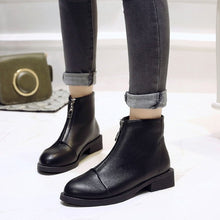 Load image into Gallery viewer, 2019 New Women Zip Autumn Ankle Boots Ladies Classic Comfort Thick Middle Heels - 4allshoppers
