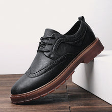 Load image into Gallery viewer, Autumn New Men Martens Shoes Brogue Casual Shoes Men Genuine Leather Shoes Work Business Casual Sneakers - 4allshoppers