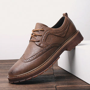 Autumn New Men Martens Shoes Brogue Casual Shoes Men Genuine Leather Shoes Work Business Casual Sneakers - 4allshoppers