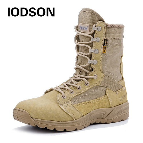 Outdoor Autumn/Winter Military Tactical Boots Men's Breathable Desert  Combat Ankle Boots Beige Army Shoes 831 - 4allshoppers