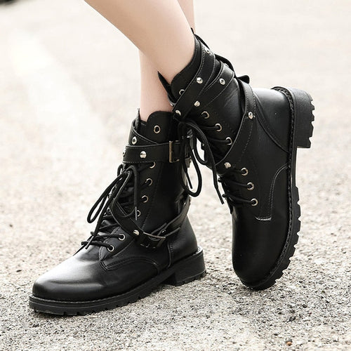 Women High Boots Fashion Gothic Shoes