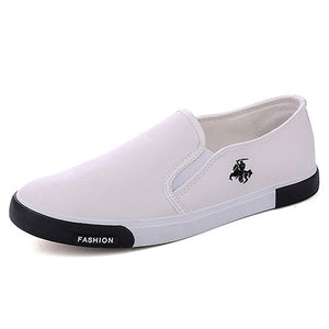 Fashion Men Casual Shoes Leather Flat Loafers - 4allshoppers