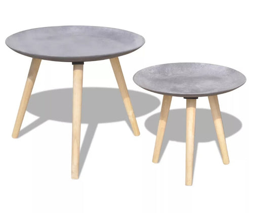 Two Piece Side Table/Coffee Table Set Nordic Fashion